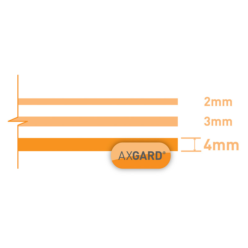 Axgard 4mm Polycarbonate Clear Impact Resisting Glazing Sheet