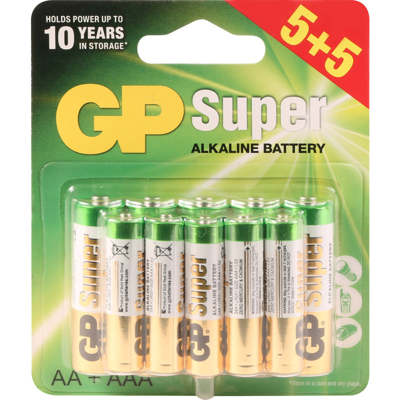 GP Super Alkaline Batteries