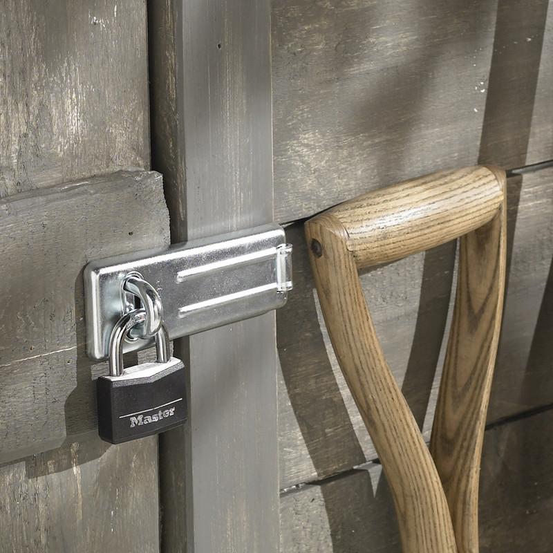 Master Lock Black Covered Aluminium Padlock