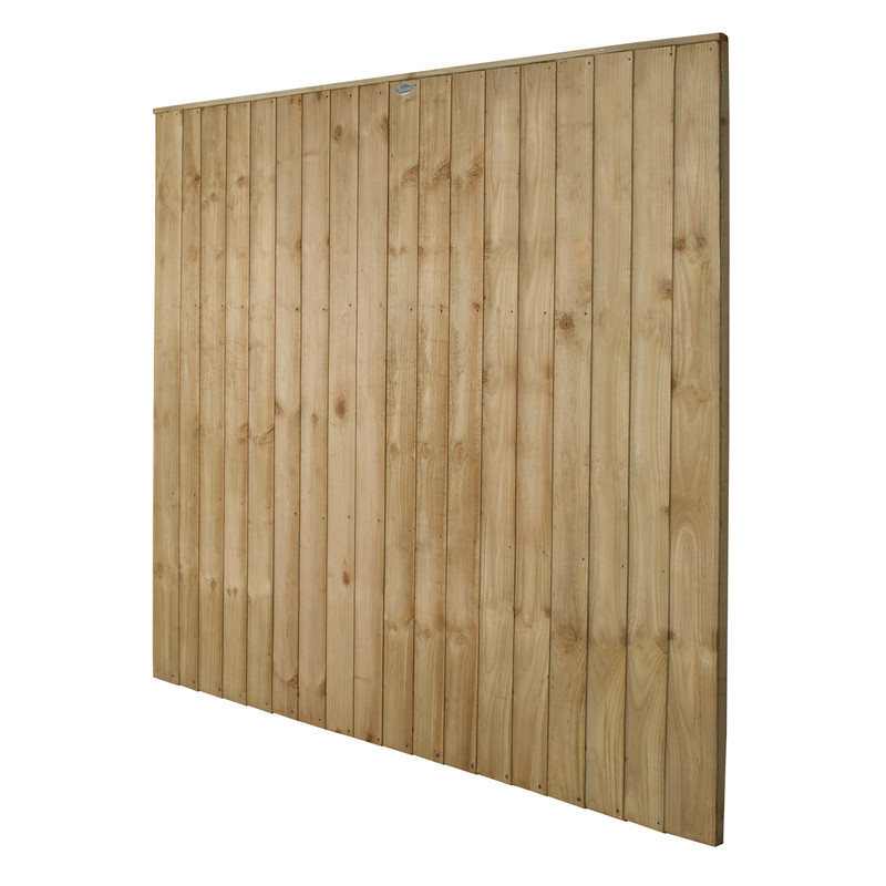 Forest Garden Pressure Treated Square Board 6ft Fence Panel