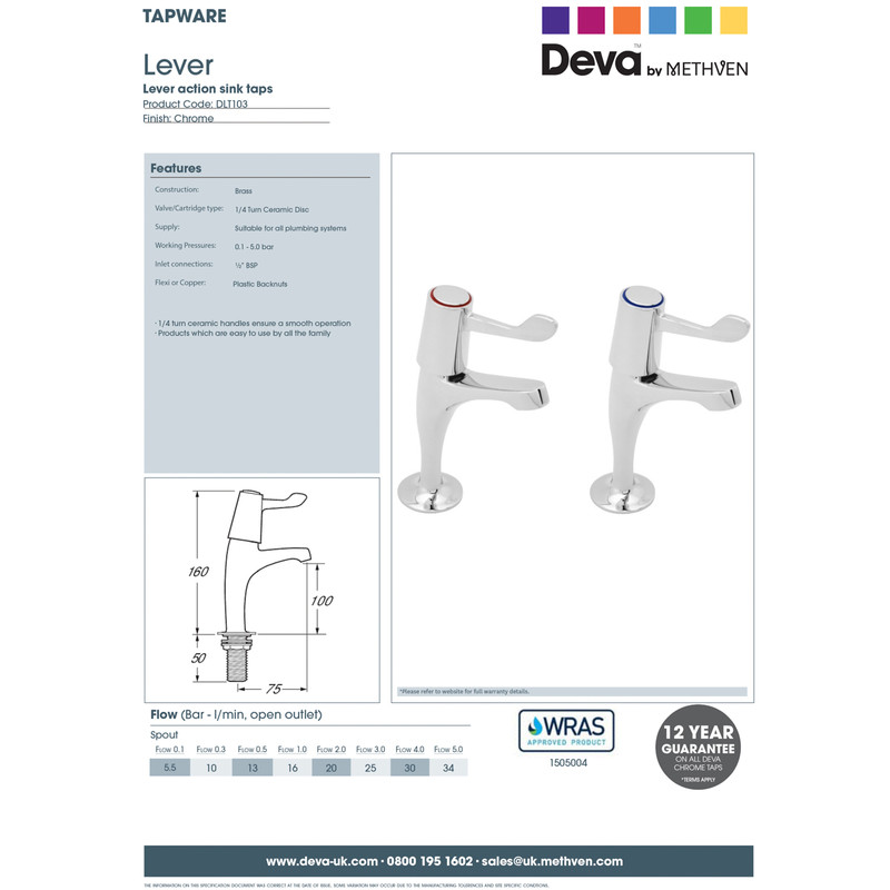 Contract Lever Pillar Kitchen Taps