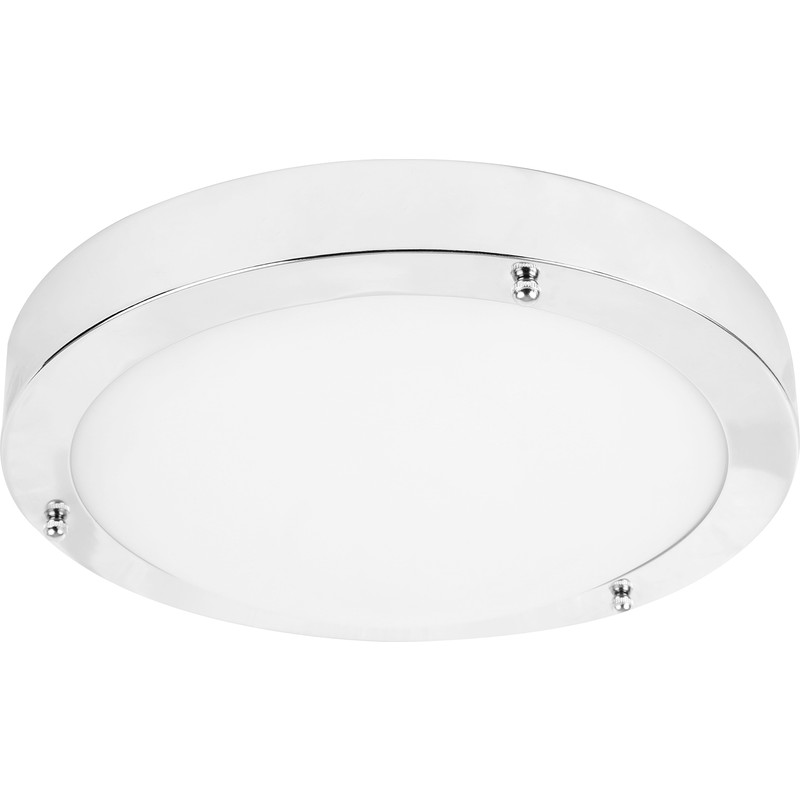 LED 9W IP44 Glass Chrome Bathroom Fitting