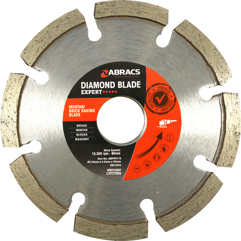 Abracs Mortar & Brick Raking Diamond Blade