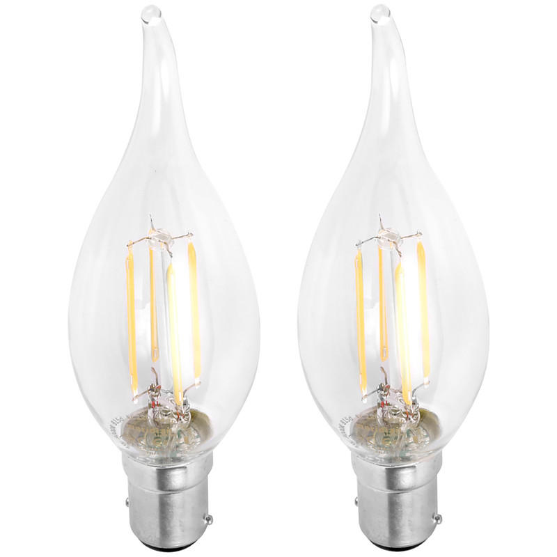 LED Filament Flame Tip Candle Lamp