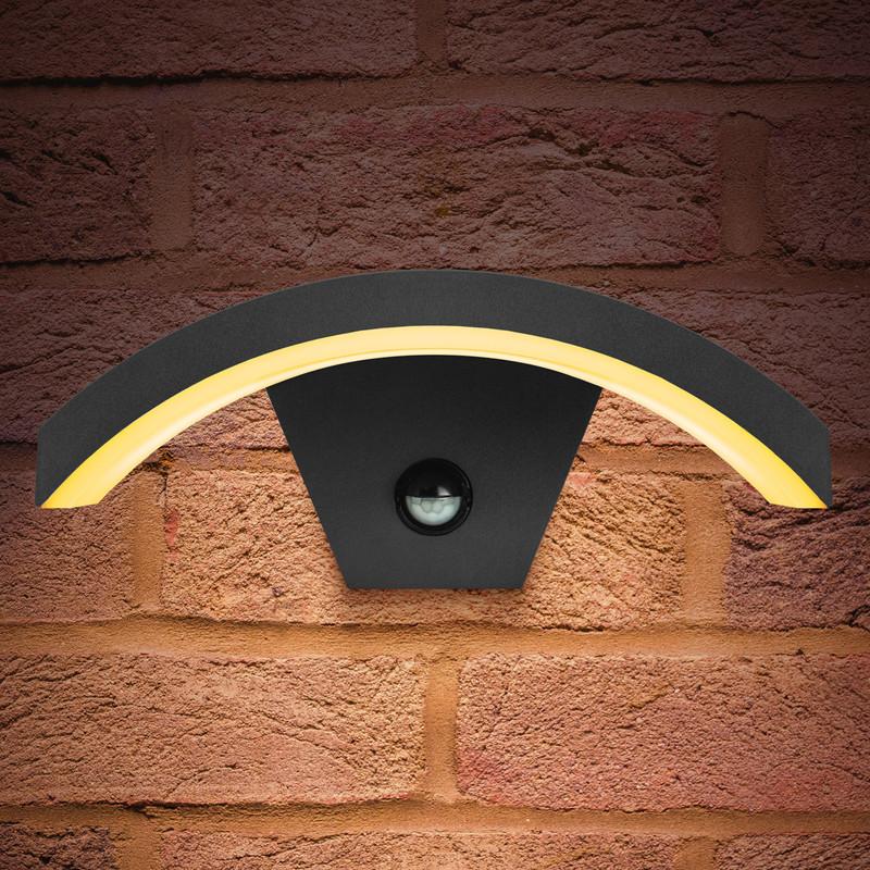 Integral LED Curve PIR Wall Light IP54