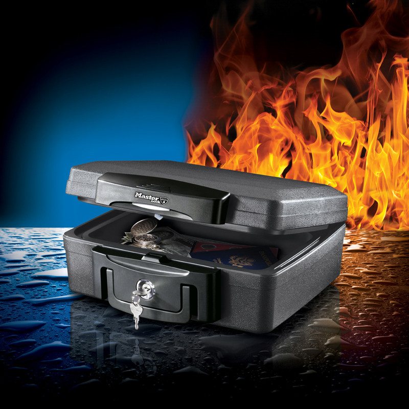 Master Lock Fire and Water Resistant Small Security Chest