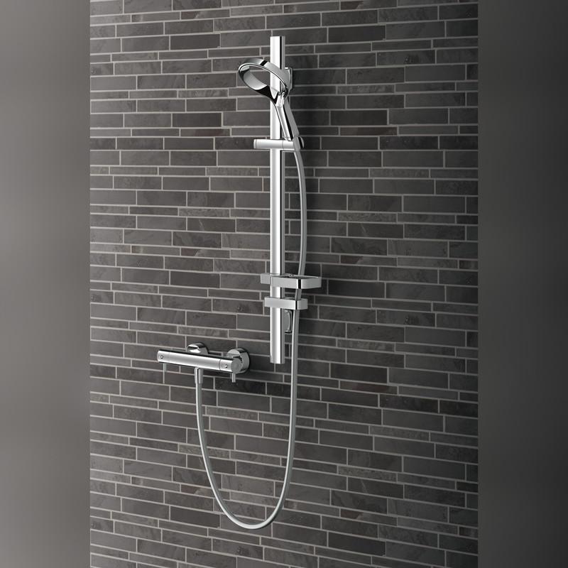 "Methven Aio ""Aurajet"" Cool to touch Bar Mixer Shower Kit"