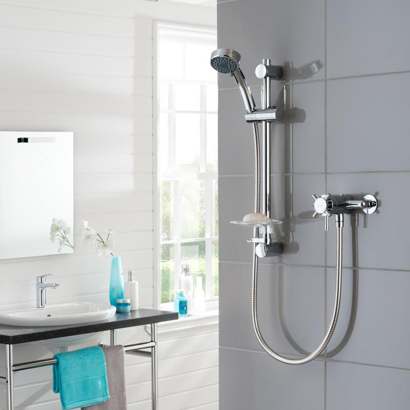 Triton Florino Mini Thermostatic Concentric Mixer Shower
