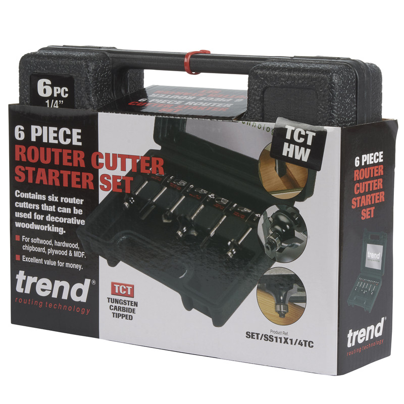 "Trend 1/4"" Router Cutter Starter Set"