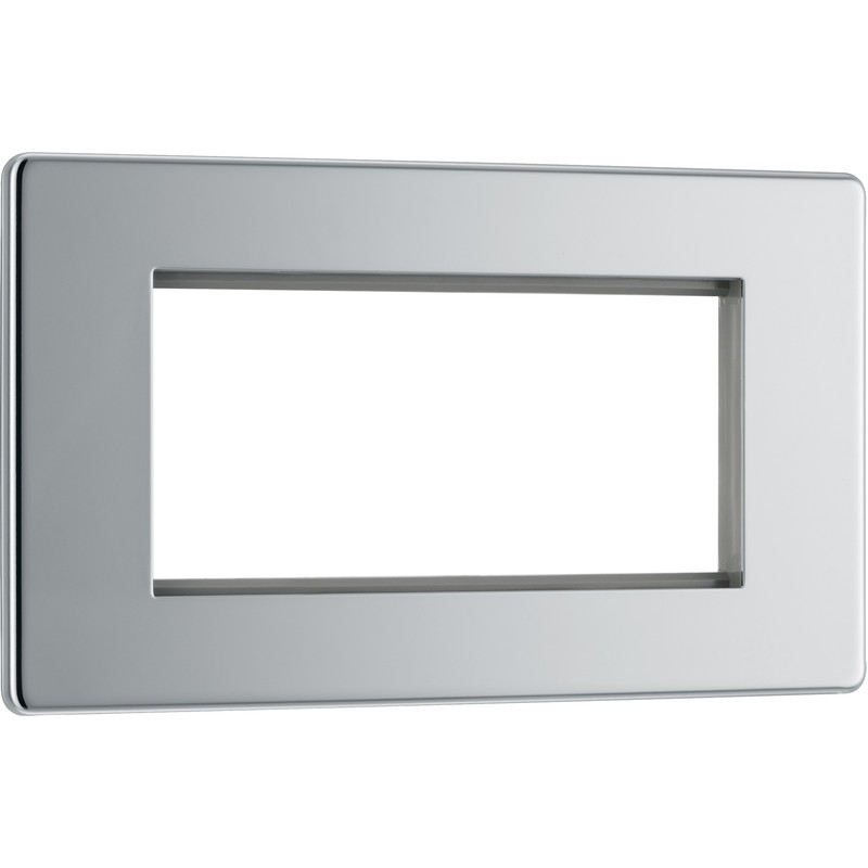 BG Screwless Flat Plate Polished Chrome Data Plate