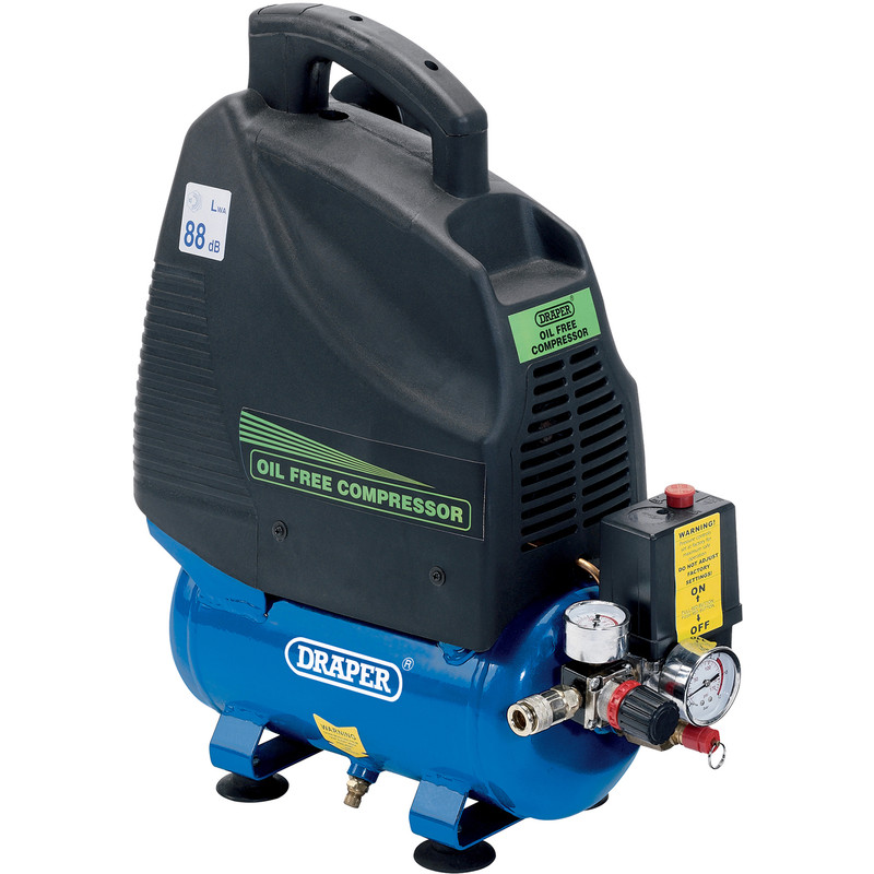 Draper 6L 1100W Oil-Free Air Compressor