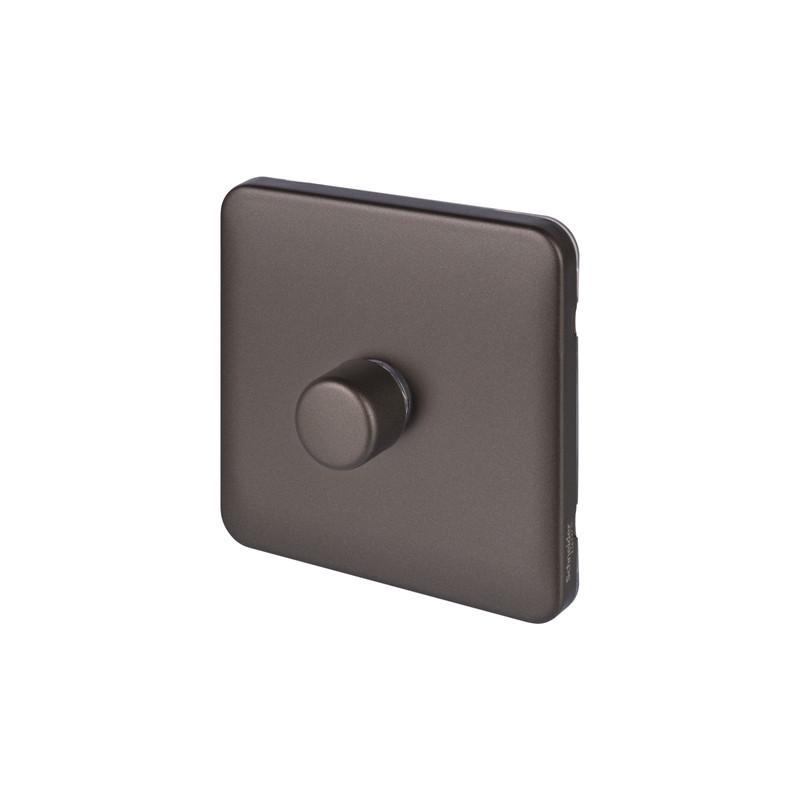 Schneider Electric Lisse Mocha Bronze Screwless LED Dimmer