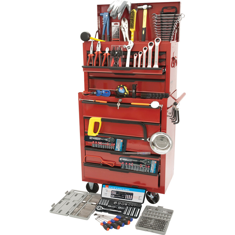 Hilka Tool Kit Heavy Duty Tool Chest & Cabinet 271 Piece
