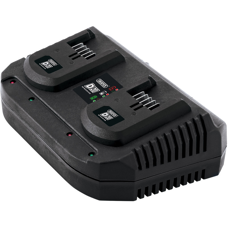 Draper D20 20V Twin Battery Charger