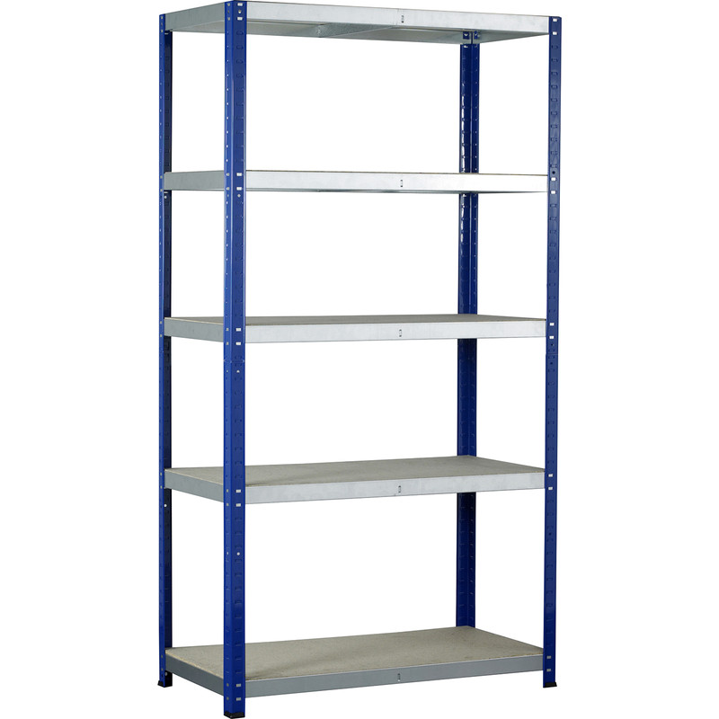 Eco 5 Tier Shelving Bay with Chipboard Shelves