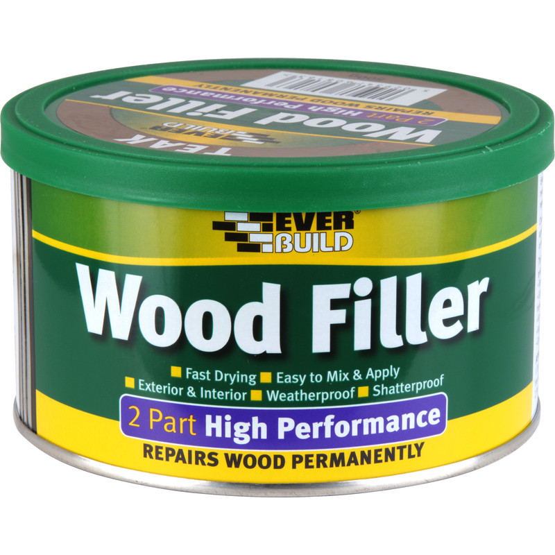 Everbuild high performance wood filler 500g pine Wood filler for exterior wood patching