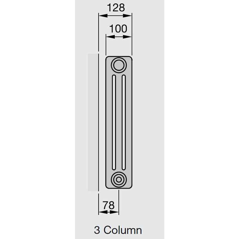 Arlberg 3-Column Horizontal Radiator