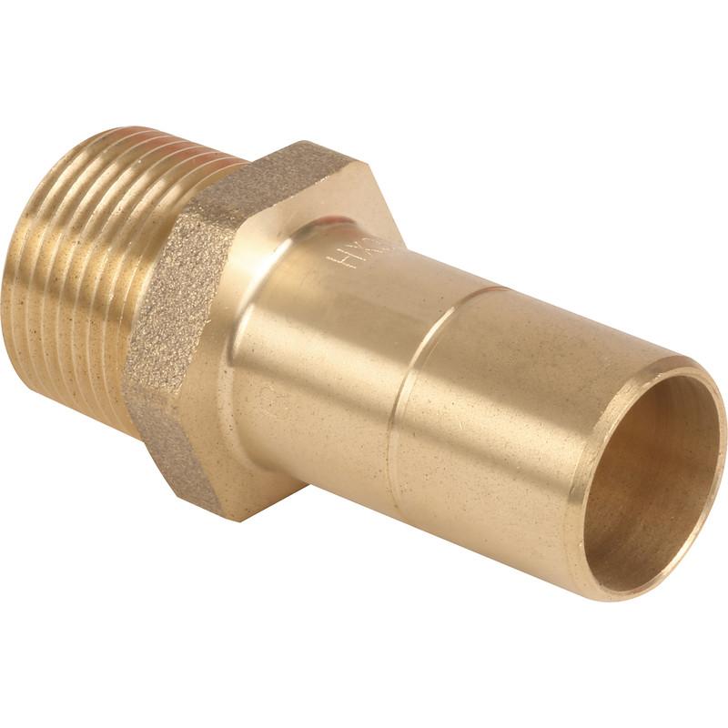Hep2O Male Adaptor Brass Spigot