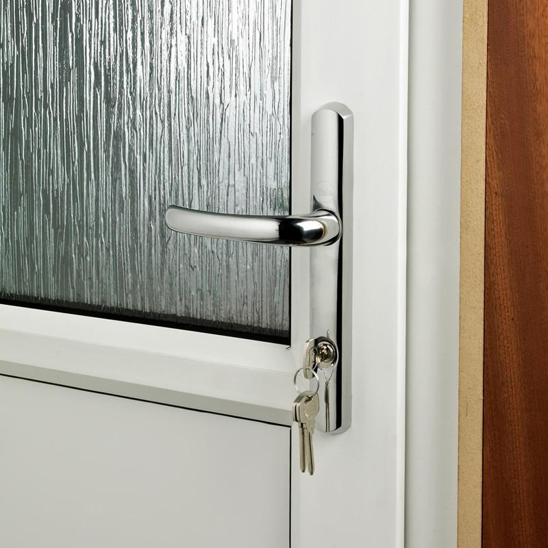 Yale PVCu TS007 2 Star Platinum Security Handle