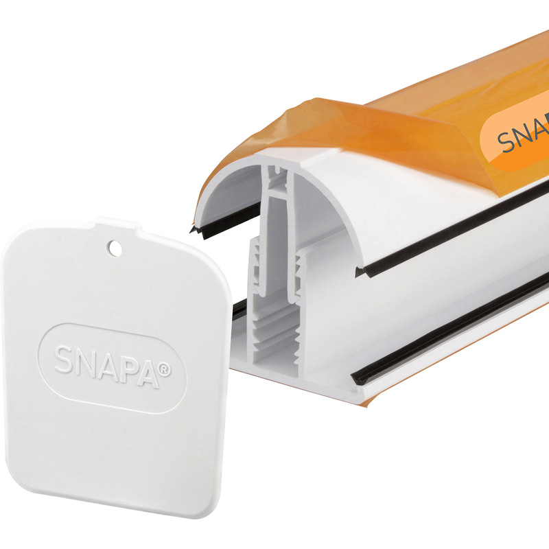 Snapa White PVC Glazing Bar for Axiome Sheets