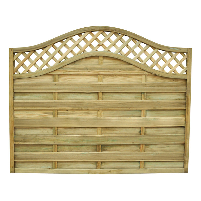 Forest Garden Europa Prague Fence Panel - 4 Pack