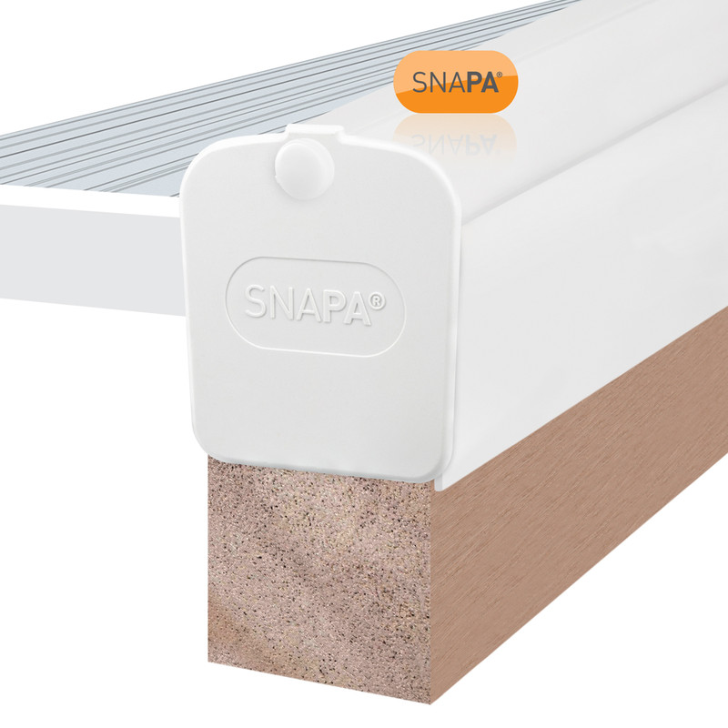 Snapa White PVC Gable Bar for Axiome Sheets