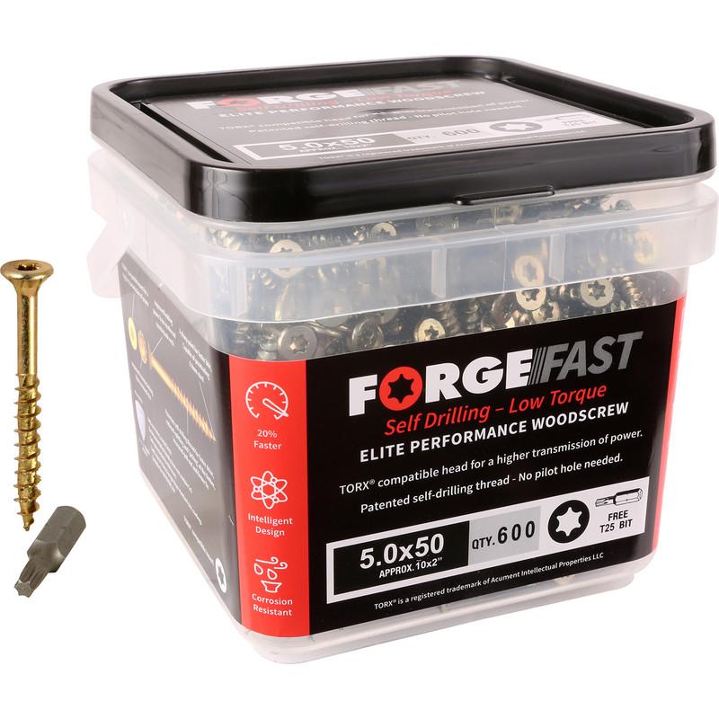 ForgeFast Multi Purpose Self Drilling Wood Screw Tub