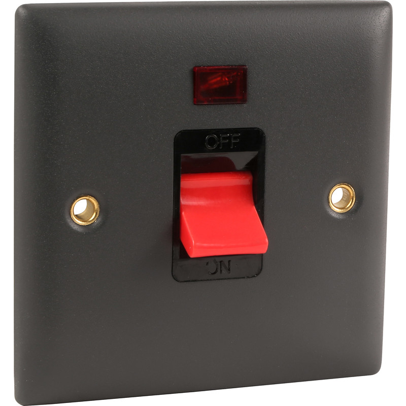 Power Pro Anthracite 45A DP Switch