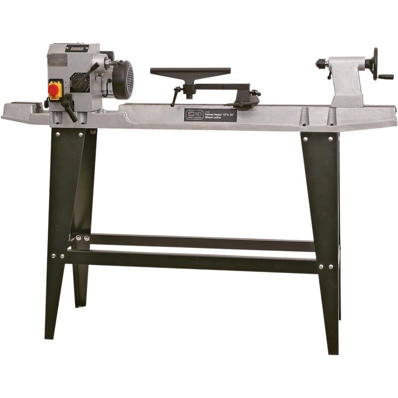 "SIP 12 x 36"" 550W Floor Standing Cast Iron Wood Lathe"