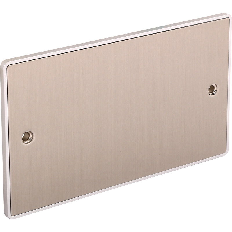 Urban Edge Brushed Chrome Blank Plate
