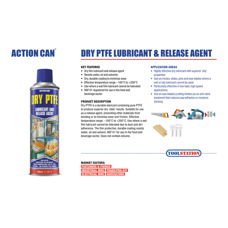 Action Can Dry PTFE