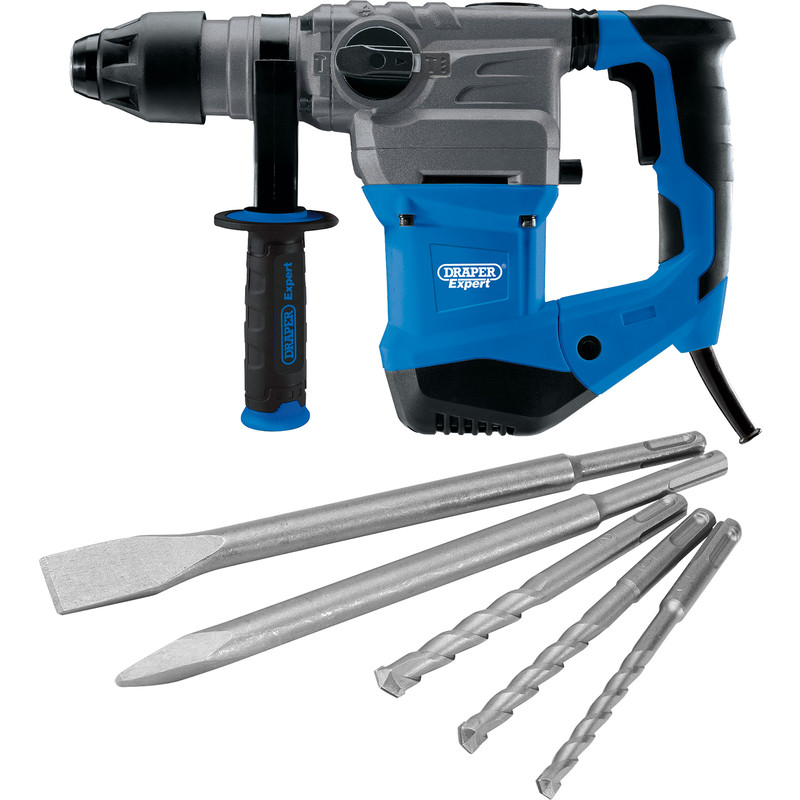 Draper Expert 1500W 4 Function SDS Plus Rotary Hammer Drill