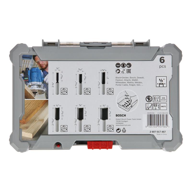 """Bosch Straight 1/4"""" Shank Router Bit Set"""