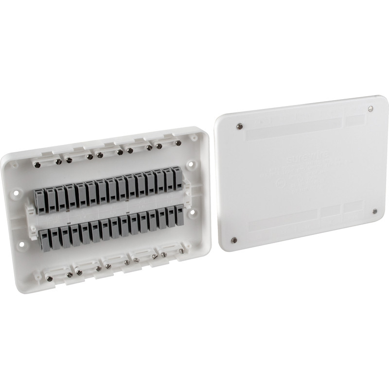 Surewire 7 Way Pre-wired Multiple Light & Switch Junction Box