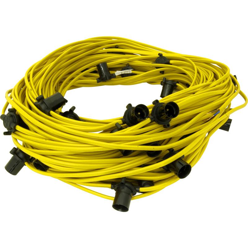 Groovy Festoon String 110V 100M Es Lamp 20 Holders Wiring Cloud Hisonuggs Outletorg