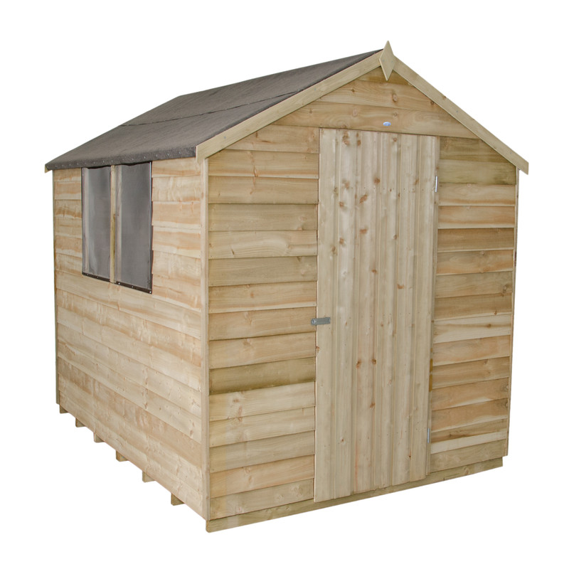 Forest Garden Overlap Pressure Treated Apex Shed