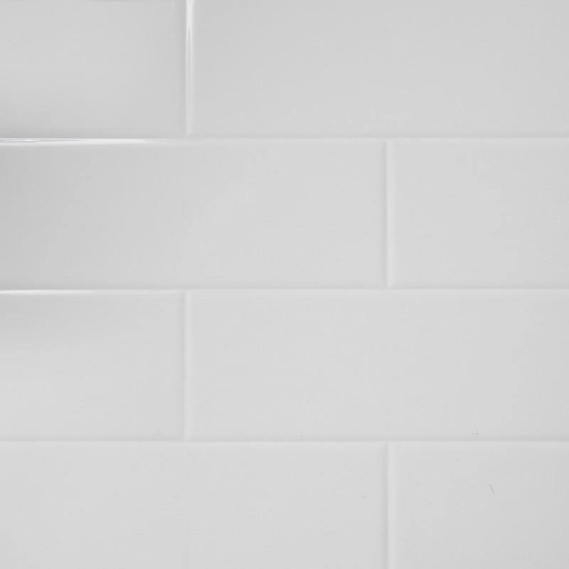 Mermaid Composite Metro Tile Vertical Shower Wall Panel
