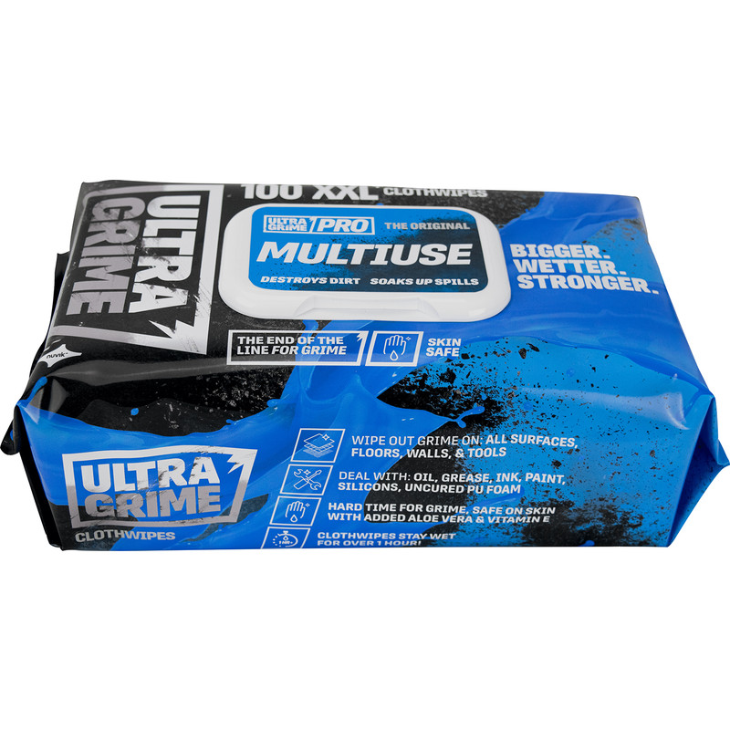 Ultragrime Pro XXL+ Multiuse Clothwipes