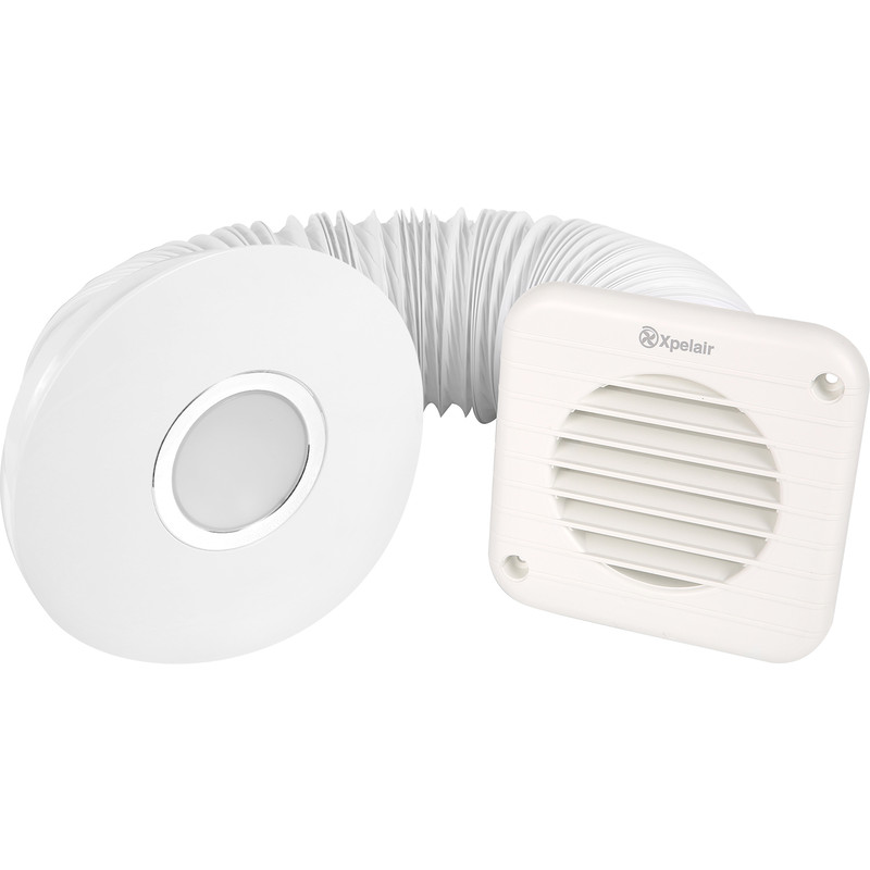Swell Xpelair Simply Silent 100Mm Round Shower Extractor Fan Timer Led Light Download Free Architecture Designs Scobabritishbridgeorg