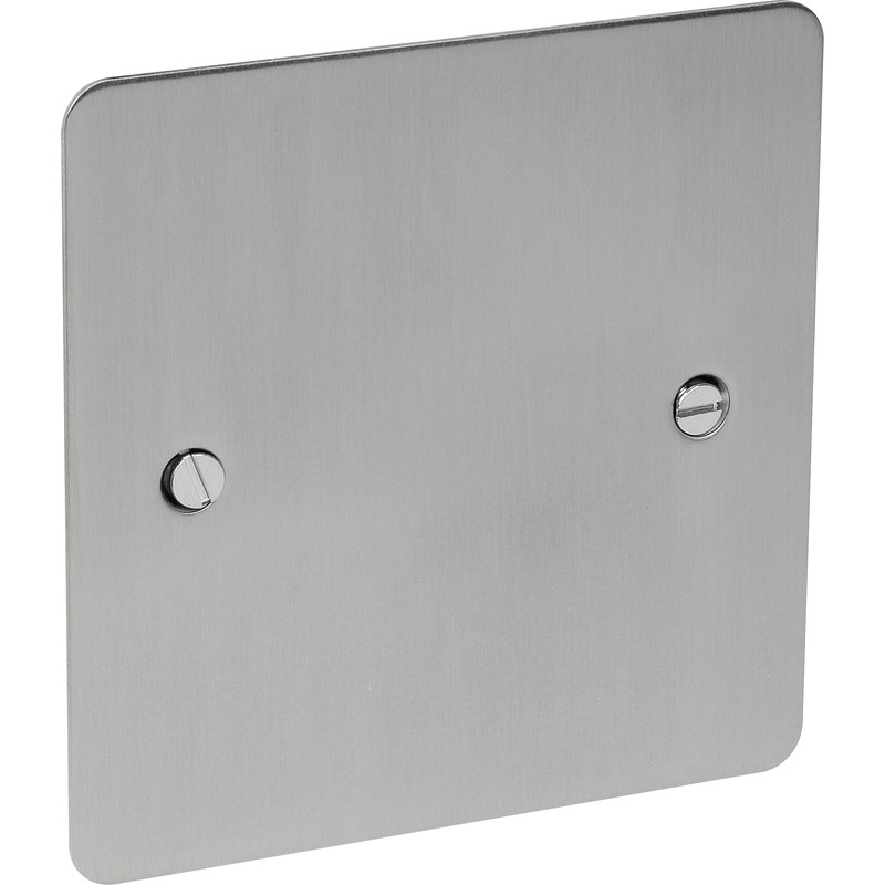 Flat Plate Satin Chrome Blank Plate