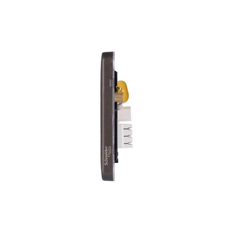 Schneider Electric Lisse Mocha Bronze Screwless Telephone Socket