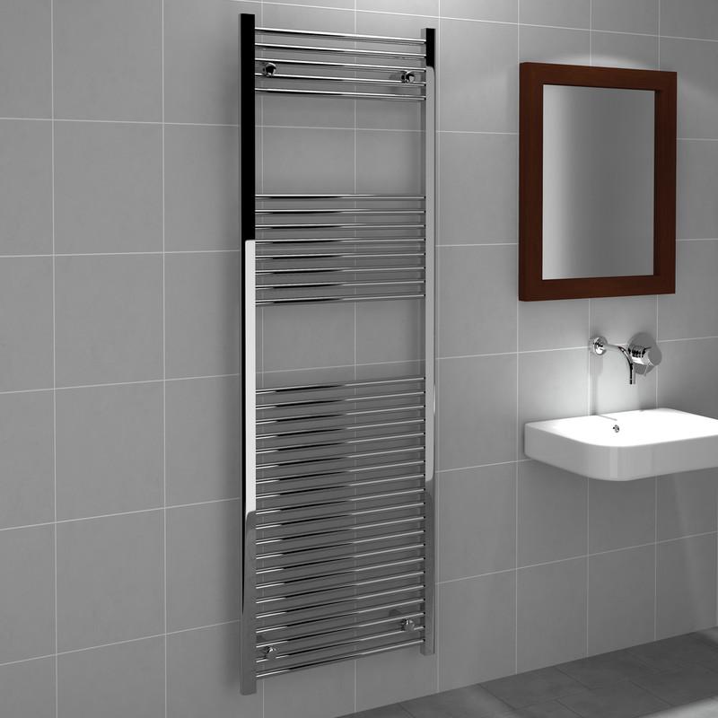 Kudox Chrome Flat Ladder Towel Radiator