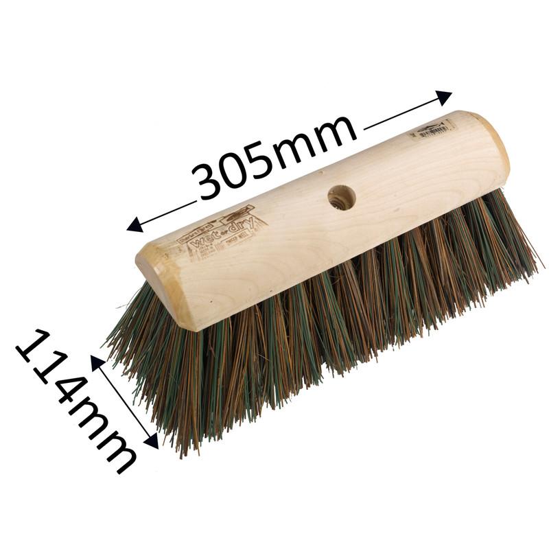 Stiff Yard Broom Head