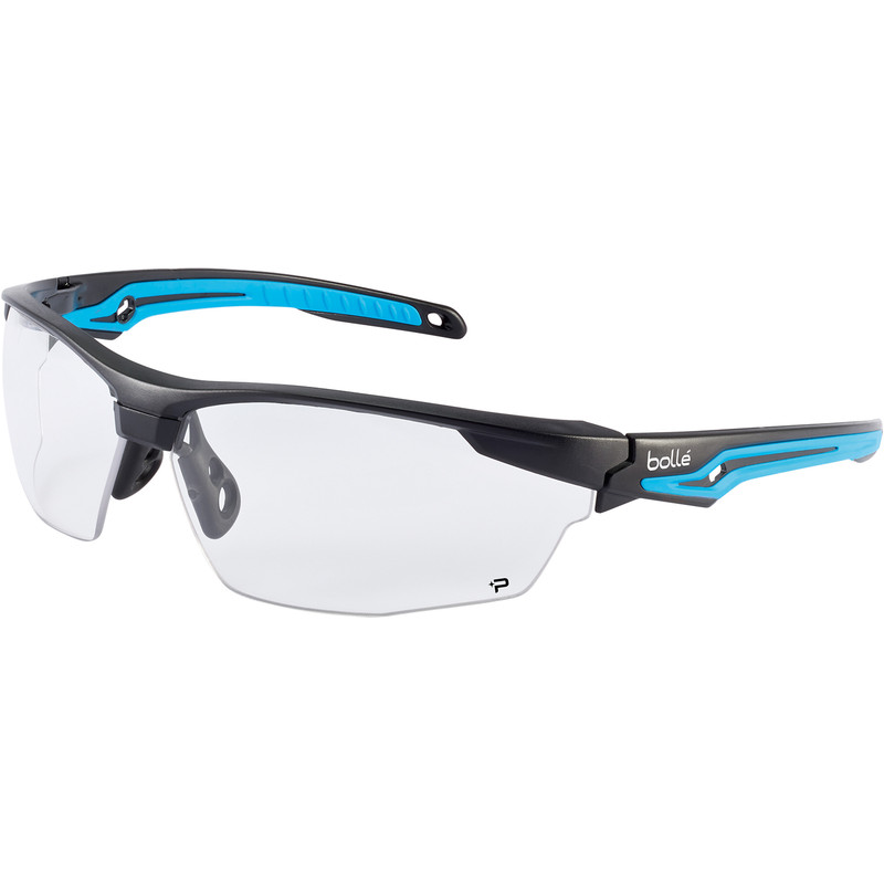 Bolle Tryon safety specs with K&N clear lens TRYOPSI