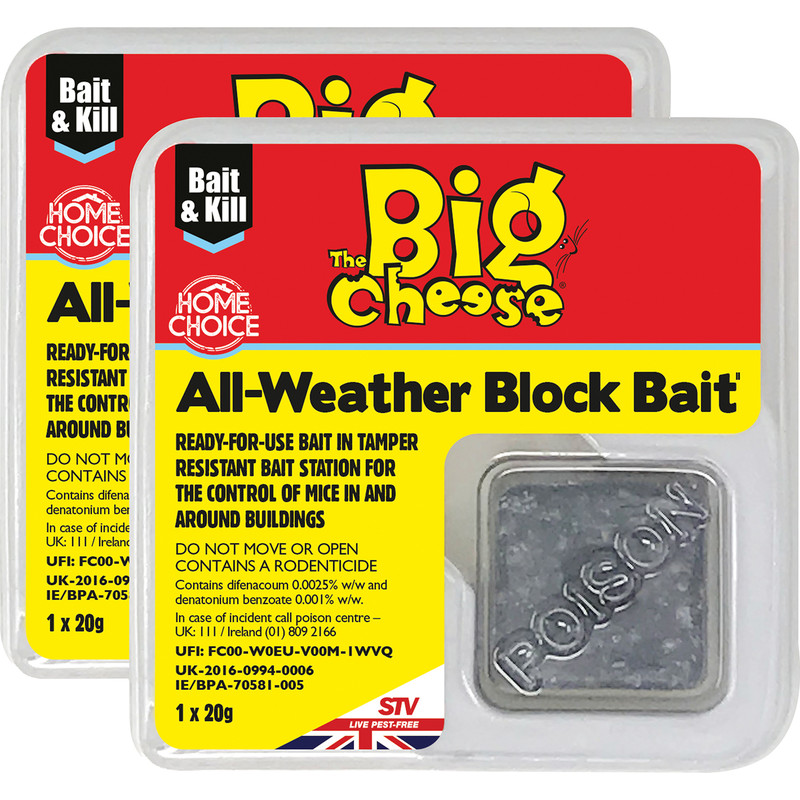 The Big Cheese All Weather Block Bait Mouse Killer Stations