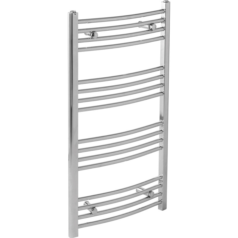 Chrome Curved Towel Radiator