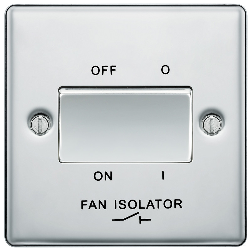 BG Polished Chrome Fan Isolator Switch