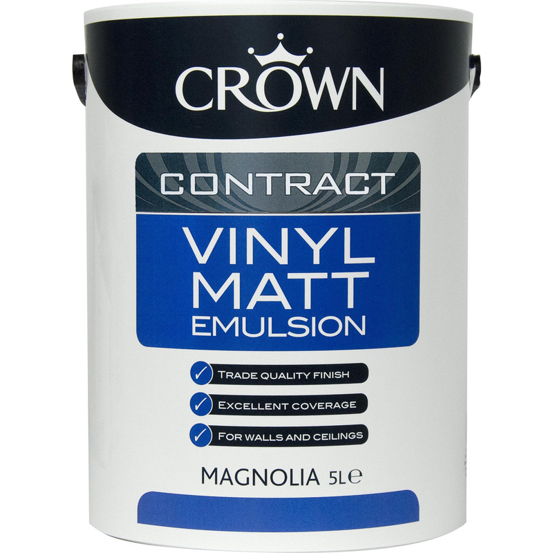 Crown Contract Vinyl Matt Emulsion Paint 5L Magnolia
