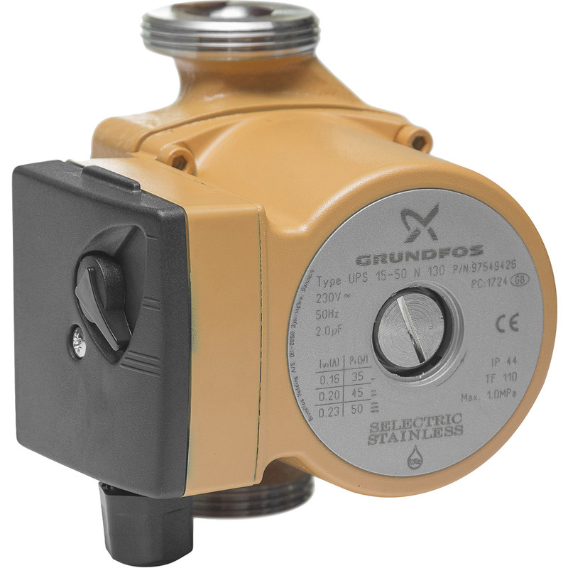 Grundfos UPS15-50 N Hot Water Service Circulator Pump