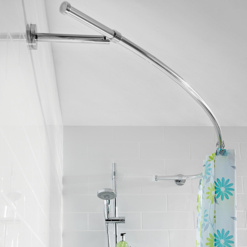 Croydex Curved Shower Curtain Rail
